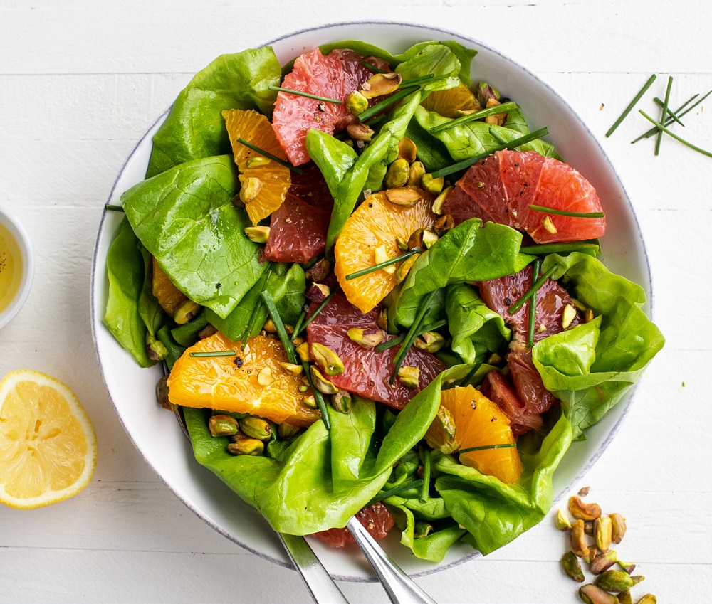 Butter Lettuce and Citrus Salad with Pistachios